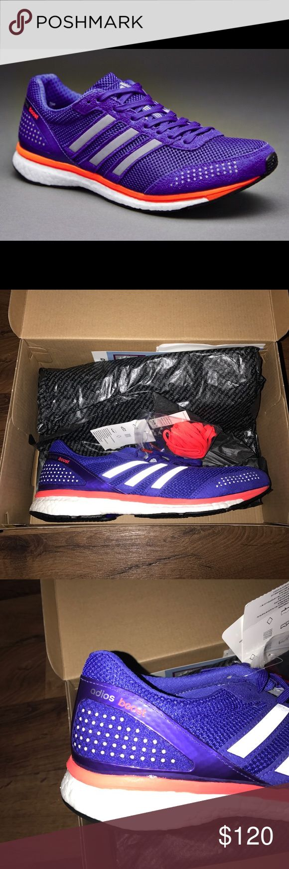 New 11 Adidas Adios Boost 2 Running Shoes Purple New Adidas Shoes Athletic Shoes
