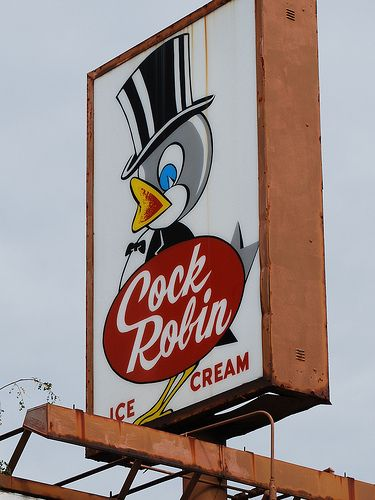 """Cock Robin Restaurant -- used to love their """"steak burgers"""" and square shaped ice cream scoops!"""