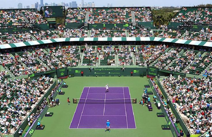 The Miami Open tennis tournament has won permission from the Miami-Dade County Commission to move to the Miami Dolphins' stadium in 2019....