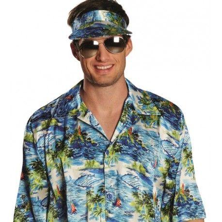 Déguisement hawaïen homme chemise hawaïenne et casquette