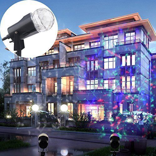 Amazing Halloween Projector Lights Outdoor LED Waterproof Rotating Spotlight Wall Decor