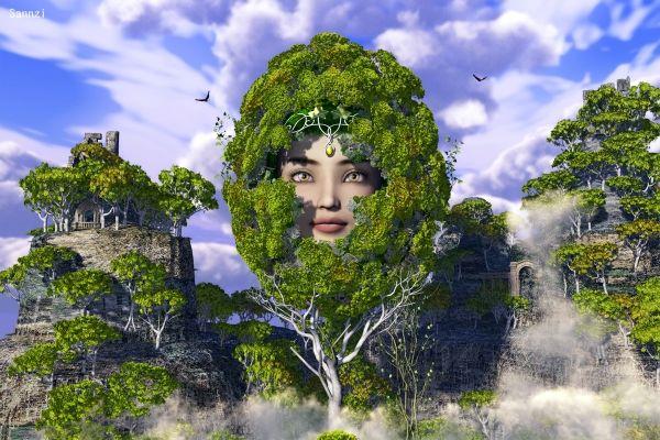 緑の卵姫 by 三次