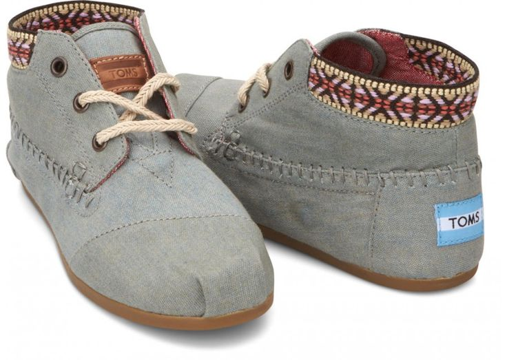 Chambray Trim Women's Tribal Boots hero. These are my next purchase from TOM's :)