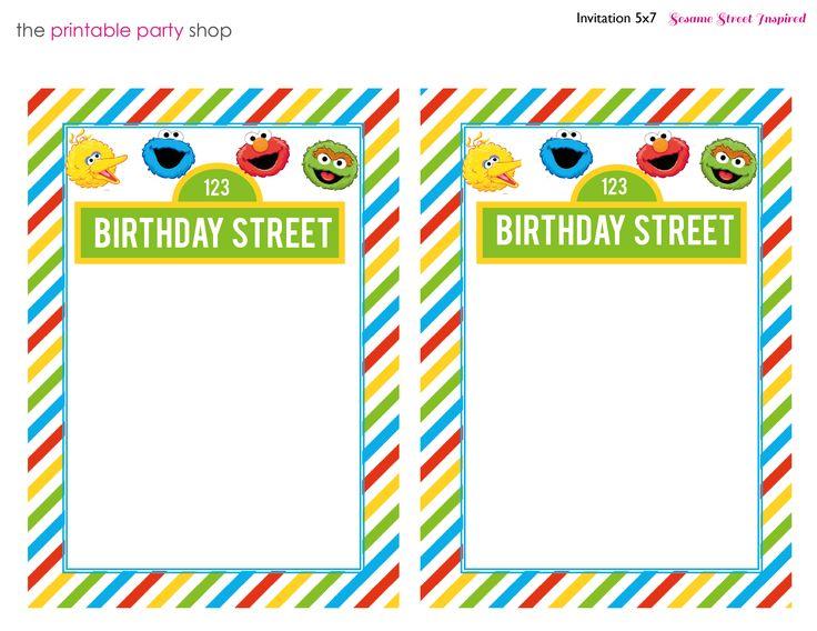 Printable Sesame Street Character