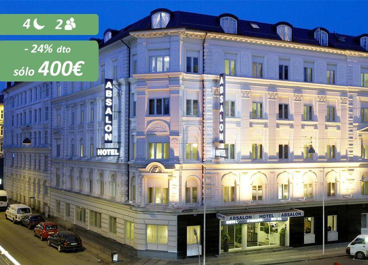 Este gran hotel de 4* se encuentra a tan sólo 5 minutos a pie de la estación central de Copenhague y los jardines de Tivoli. ¿Te lo vas a perder? https://www.reembolsing.com/oferta/copenhague/absalon-hotel/384
