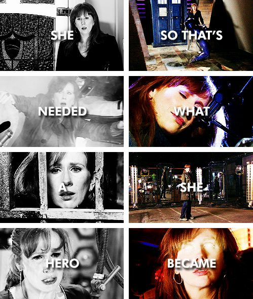 Donna Noble: She needed a hero so that's what she became. #doctorwho