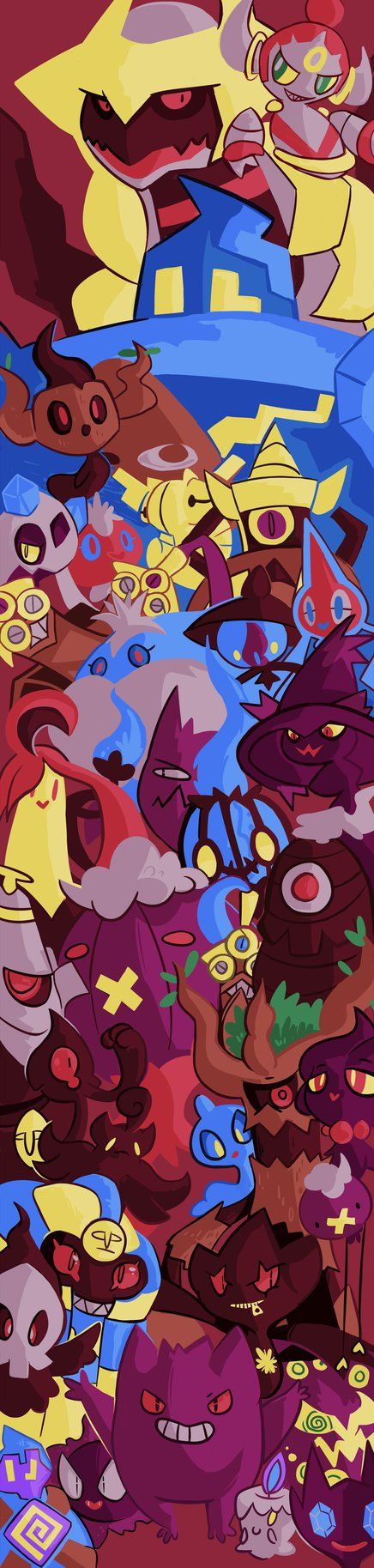 Primary and Secondary Ghost-Type Pokemons joined together!