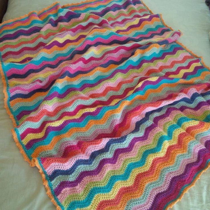 Crochet blanket. Ripple by Kari