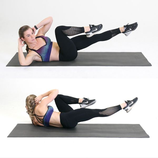 Stability Ball Knee Crunches: Best 25+ Bicycle Crunches Ideas On Pinterest