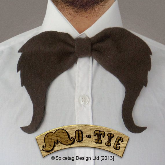 The Mo Tie 002 The Gunslinger Fashion Accessory Nerdy Bow Tie Movember Moustache