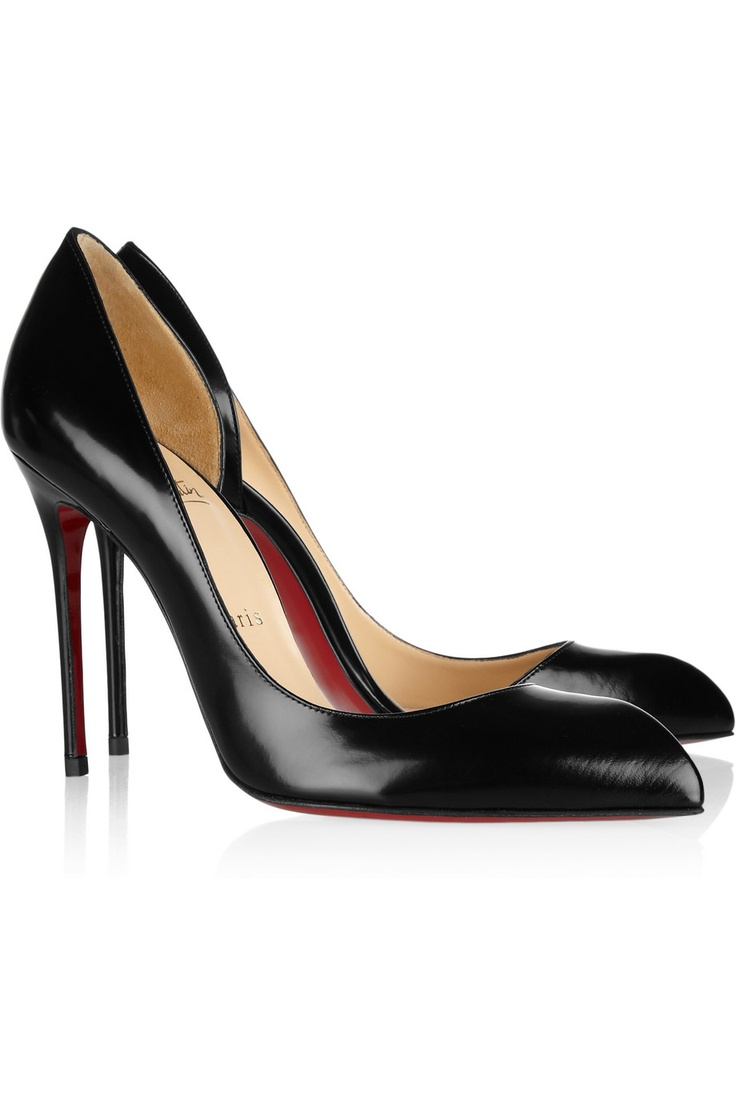 Love this CL's cutout leather pumps!!!