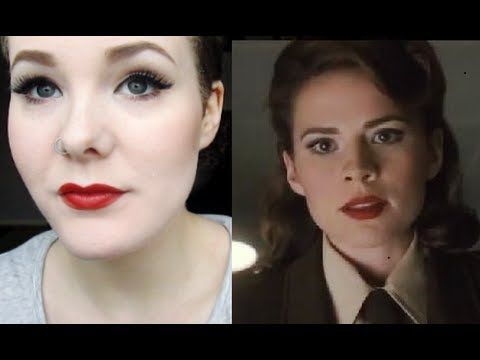 Peggy Carter (Captain America) 40's Cosplay Makeup Tutorial! SHE'S SO CUTE!!