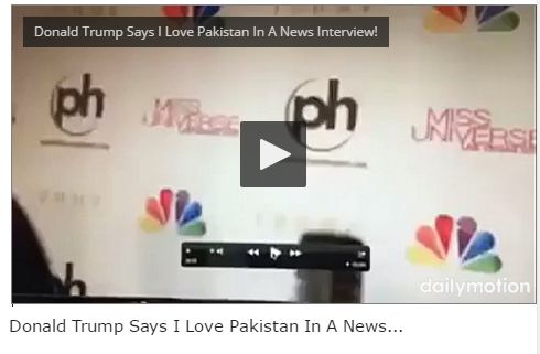 Donald Trump Says I Love Pakistan In A News Interview!