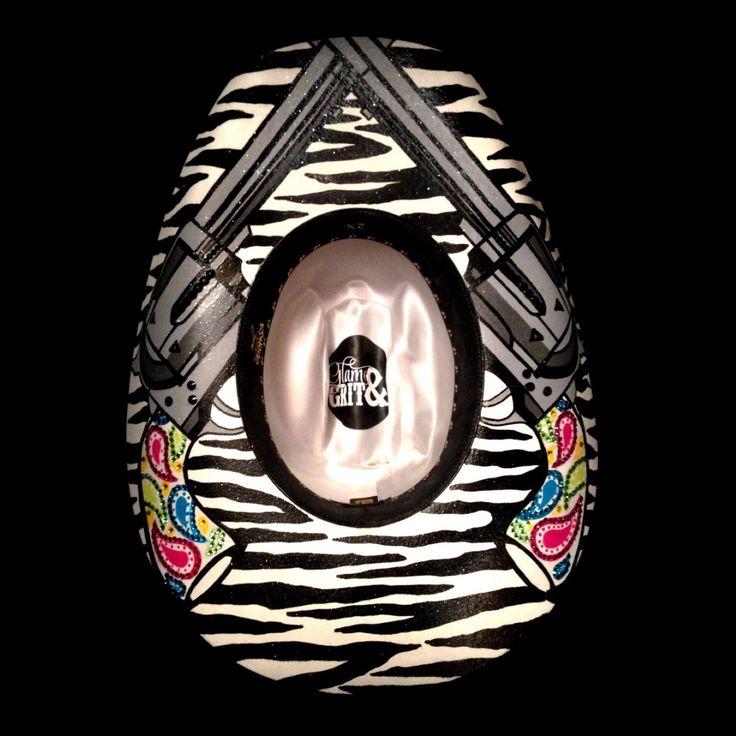 Zebra & Pistols Black Felt Hat - 7 1/8 - Glam_And_Grit