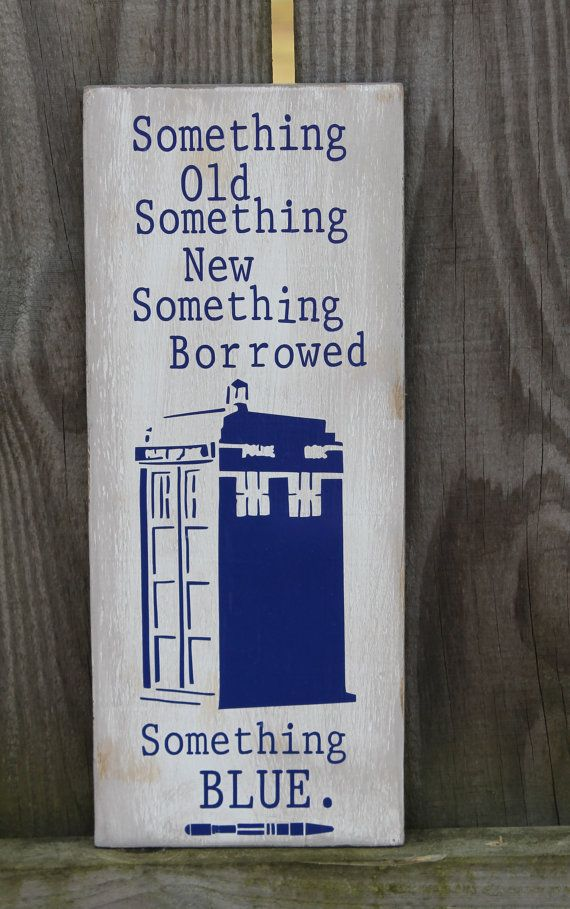 Doctor Dr. Who Something Old NEW Borrowed BLUE by doodlesbynoodles, $50.00