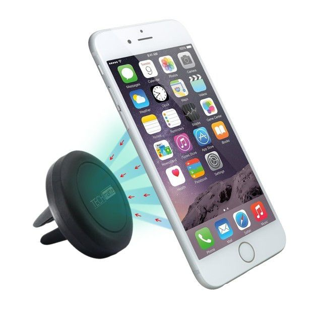 This magnetic phone holder for your car air vent.  Get it on Amazon for $7.99 (73% off)