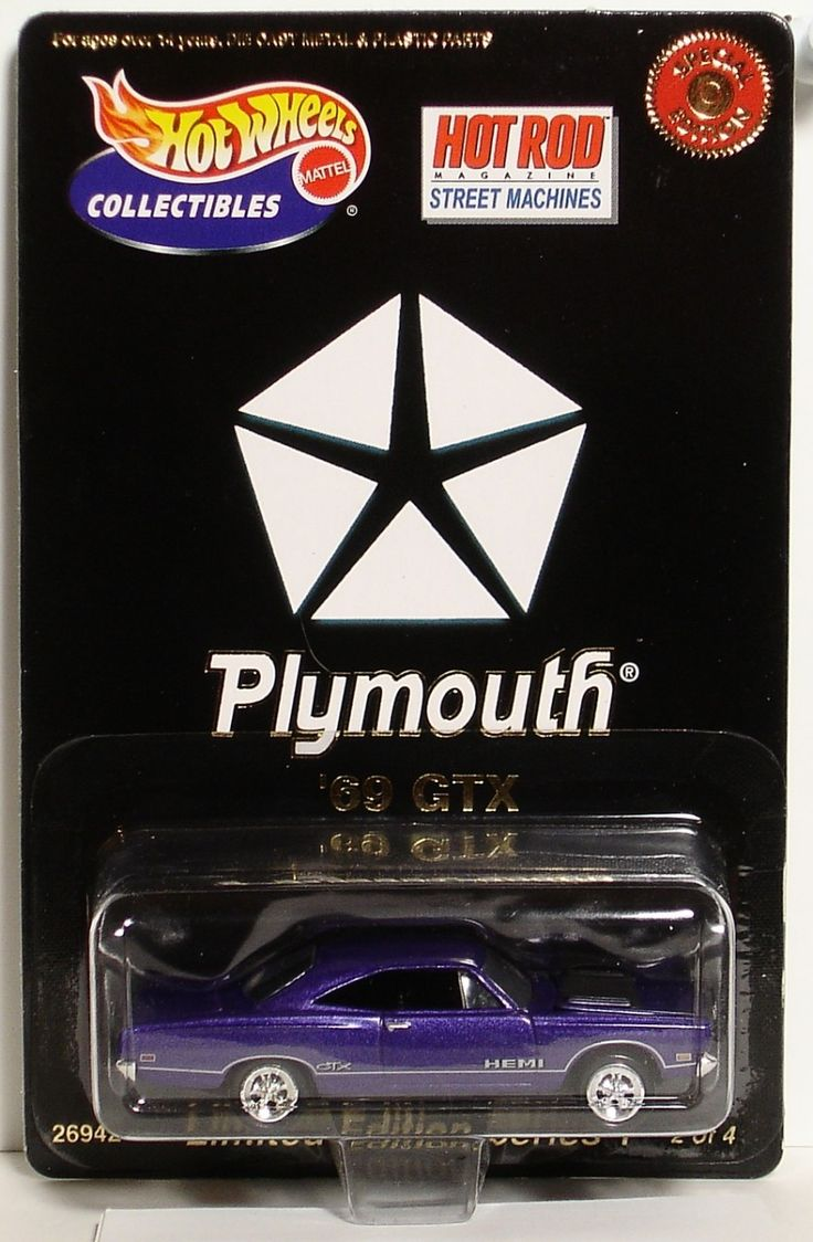 69 plymouth purple gtx limited edition hot wheels