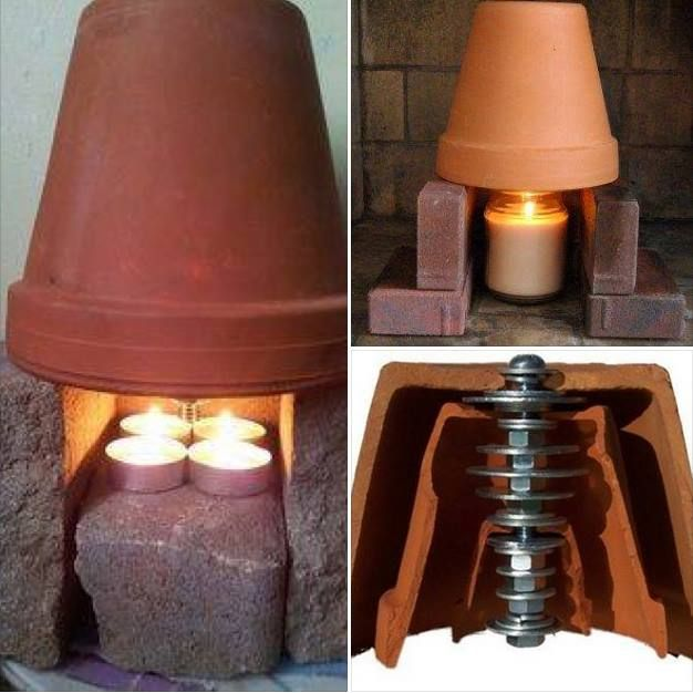A candle heater - THIS will be going in my garage very shortly!!!