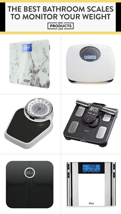 Whether you're looking to lose or gain a few pounds, these digital bathroom scales make it easy to track your progress.