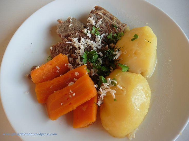 Bio Rindfleisch, Kren, Erdäpfel und Karotten – Krenfleisch