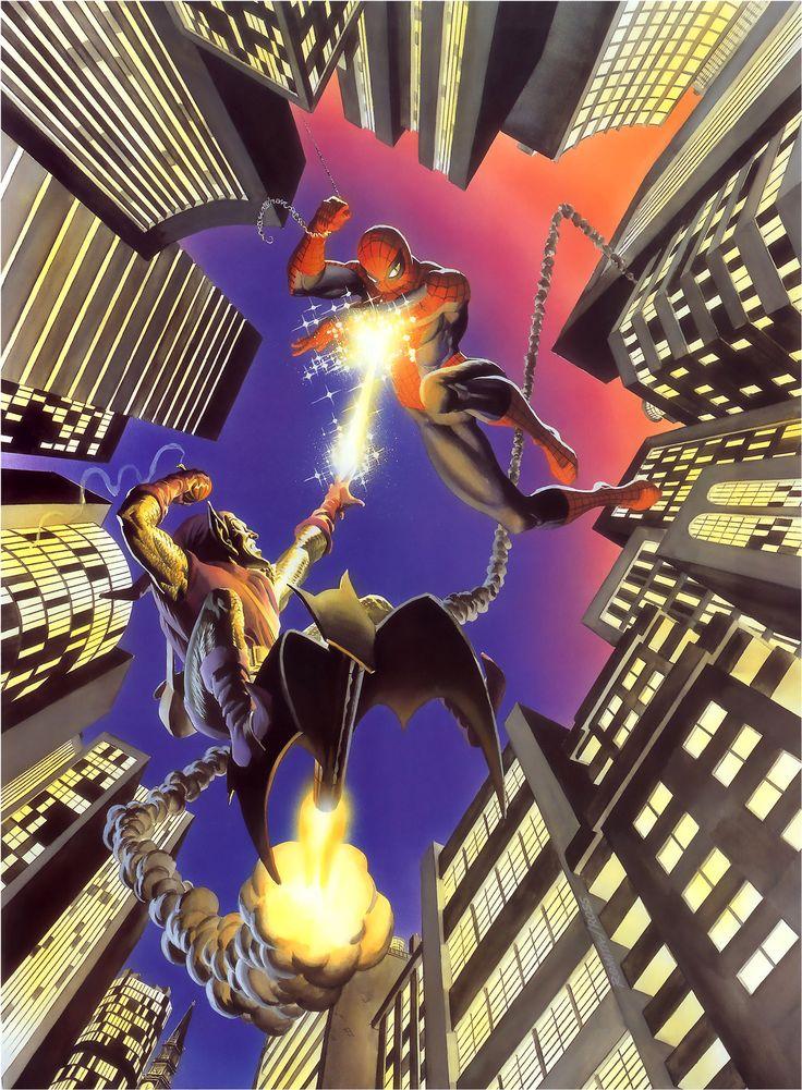 Spider man vs the green goblin by john romita and alex - Hobgoblin wallpaper ...