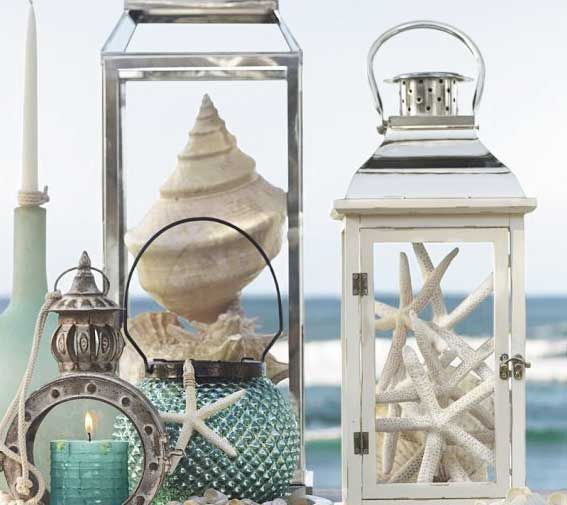 Seaside party table decor