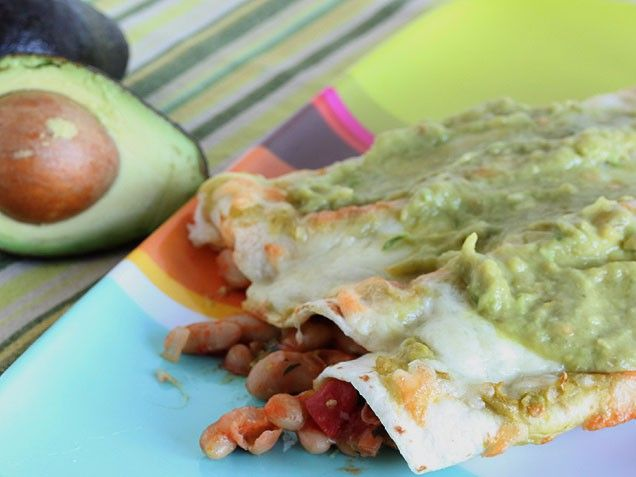 White Bean and Avocado Enchiladas | Recipe