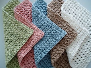 "This spa style washcloth will pamper your skin – try stitching it in organic cotton for the ultimate in natural luxury. Measures a generous 9"" square and is great for adults or babies. What a wonderful gift wrapped around a bar of handmade soap!"