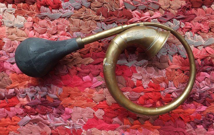 Antique Brass Car Horn Automobile Industrial Chic Eclectic Brass Decor Air Horn Brass Instrument Man Cave Decor Vintage 1920's vtg 1930's by BlendedSplendid on Etsy