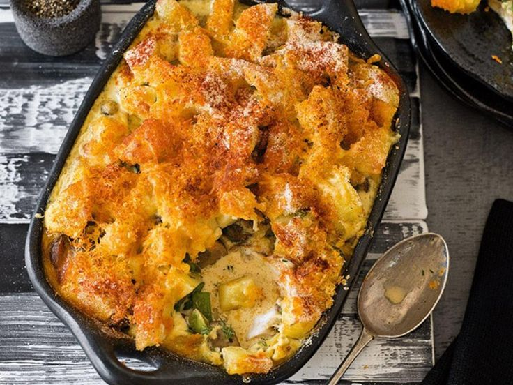 This is a great way to use inexpensive fish and although it is essentially a good midweek family meal, it's delicious enough to serve for a more special occasion.