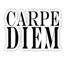 Famous Latin Quote : Carpe Diem  Sticker