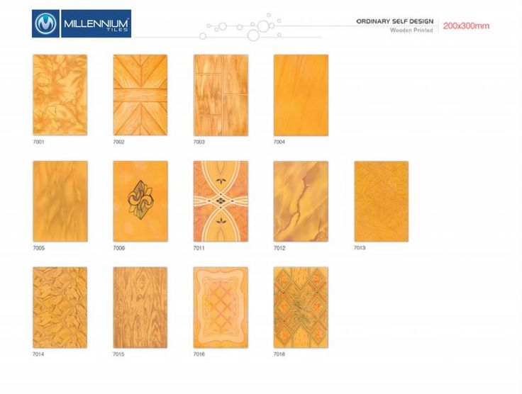 Millennium Tiles 200x300mm 8x12 Wall Catalogue
