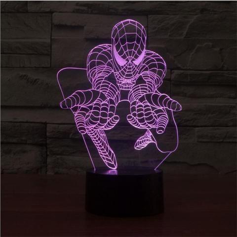 Spiderman 3D Illusion LED Lamp - Design 2