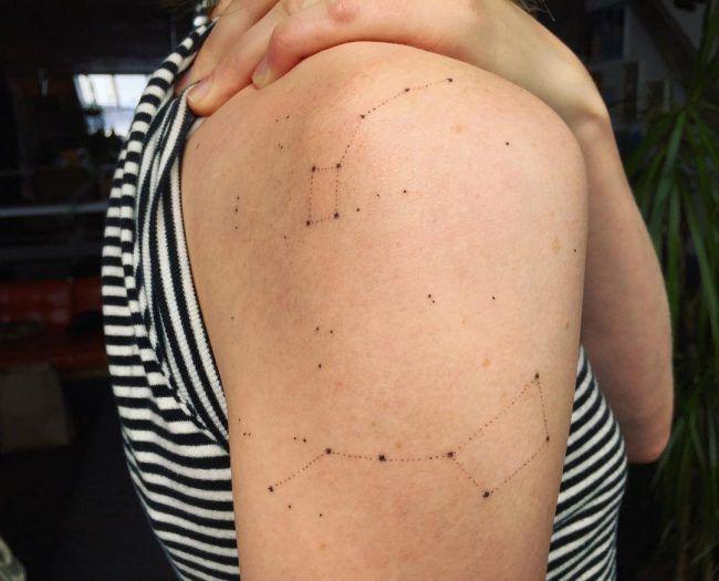 70+ Schöne Konstellation Tattoo Ideen – Wo Mysterien des Universums Body Art treffen