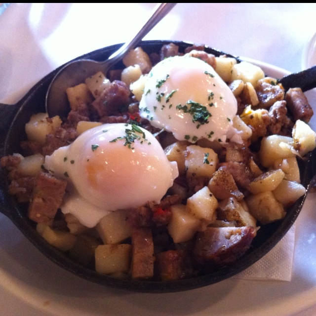 Hash Skillet at the Loft Restaurant at Traders Point Creamery in Zionsville.