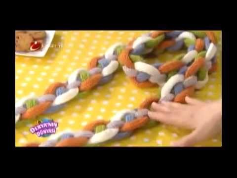 Zincirli atkı örme tekniği - Derya Baykal - YouTube