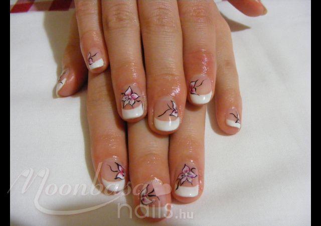 : lakkzselé, akril festék, fehér, rózsaszín