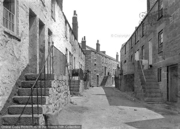 St Ives, Back Road West 1890, from Francis Frith