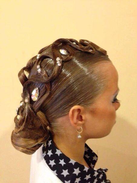 Groovy 17 Best Images About Ballroom Hair On Pinterest Buns Knot Bun Short Hairstyles Gunalazisus