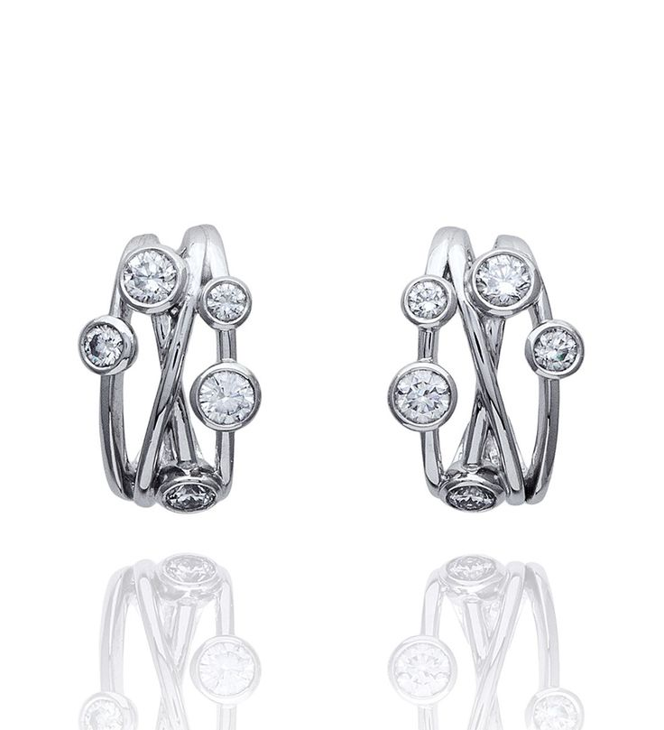 Raindance Anniversary Diamond Hoop Earrings | Boodles