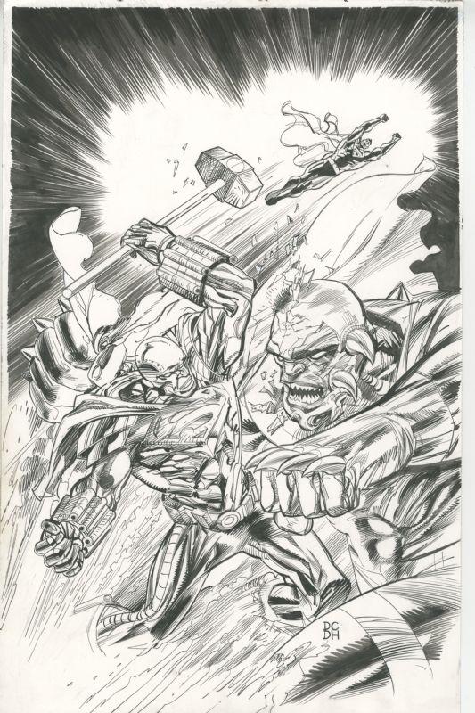 Superman in ACTION COMICS #903 (Sept. 2011) - 1:10 Variant (''Reign of the Doomsdays'', Part 3) - Steel vs. Doomsday! Comic Art