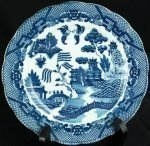 Vintage Transferware Blue Willow Plate Charger Dish       View Other Images                 Get an email when more items like this one arrives.    Manage Alerts | Help  Estate Items > Porcelain-Pottery  Dealer: EuroLux  Contact: Greg Talbot - Email Dealer       Price: $49.00 USD  - Currency Converter     Shipping inside United States: Quoted at time of purchase   Shipping outside United States: Quoted at time of purchase   Description: Product Details    Item #:    11-22-0    Dimensions…