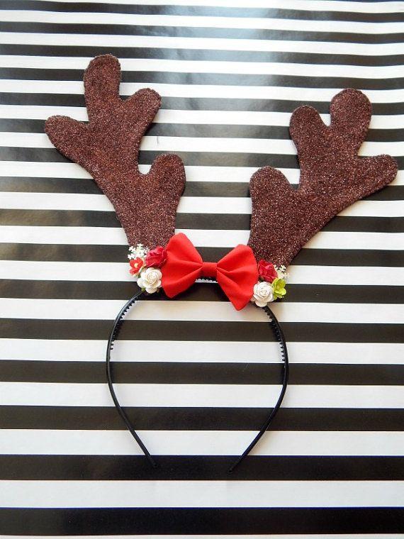 Christmas Glitter Reindeer Ears  Reindeer Ears  by DearChantilly