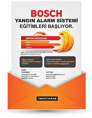 Teknomaks'ın Bosch Yangın Alarm Sistemi eğitimleri başlıyor