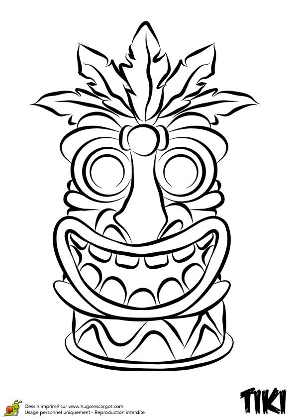 totem pole faces coloring pages - 40 best images about coloriages totem tiki on pinterest