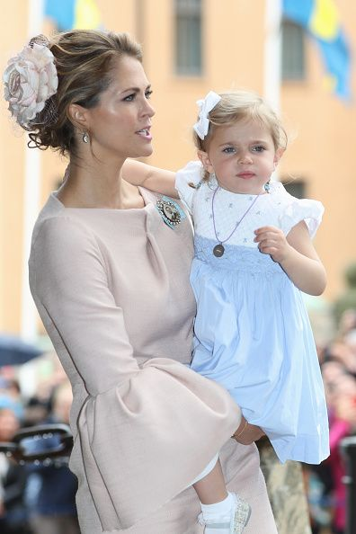 Princess Madeleine of Sweden and Princess Leonore of Sweden are seen after the…