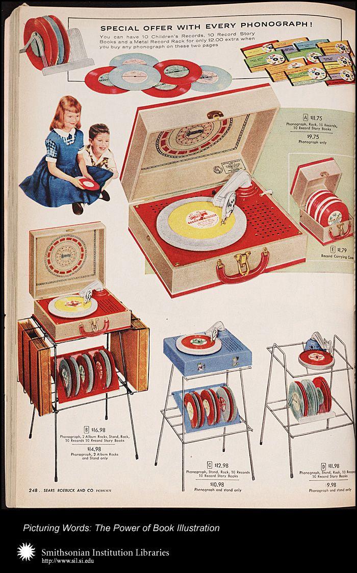 Children's record player Illustration