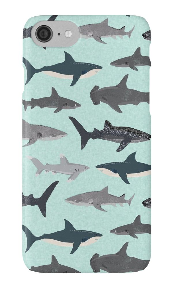 sharks illustration art print ocean lifesea life animal