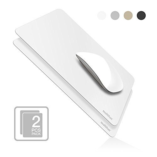 multifun 2 Pack Ultra Thin Mouse Pad, Reusable Non-Slip Rubber Mousepad, Gaming Mouse Pads, Waterproof Anti-scratch Mouse Pad Mat for Mac White >>> Click image for more details.