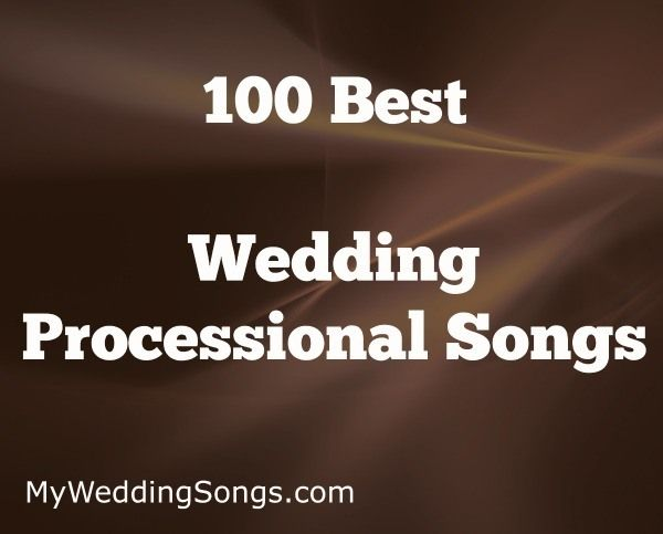 A list of wedding processional songs. Processional Songs are played during a wedding ceremony while the bride or bridal party walk down the isle.
